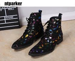 womens size 12 fashion combat boots big size 46 designer fashion high top leather shoes pointed