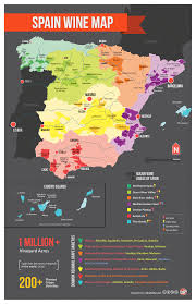 A Map Of Spain by Spain Wine Map Spain Wine And Country