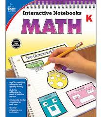 interactive notebooks math resource book grade k carson dellosa