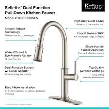 kitchen faucet spout kraus sellette single handle pull down kitchen faucet with dual