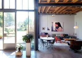 industrial and mid century modern loft in an old barn digsdigs