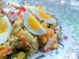 cuisiner le surimi recette salade de couscous au surimi maïs olives cuisinez salade de