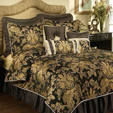 Damask Duvet Cover King Lismore Black And Gold Damask Comforter Bedding From Austin Horn