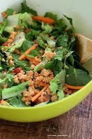 thai salad with chickpea carrot peanut crumble u0026 garlic soy