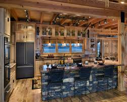 home design exciting rustic interior design with kitchen track