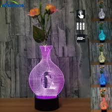 color changing lava l creative gifts bottle vase abajur led night light 7 color change