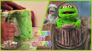 oscar the grouch cake how to youtube