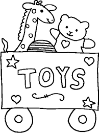 carriage toys coloring pages place color
