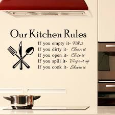 compare prices on wall stickers for kitchen rules online shopping hot sale kitchen and cozinha decoration vinyl wall sticker diy our kitchen rules poster interior home
