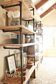 Diy Restoration Hardware Reclaimed Wood Shelf by Diy Shelves Diy Pipe Shelves Galvanized Pipe And Diy Pipe