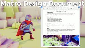 game design template game jam macro design document guide and template indie game