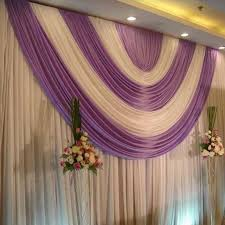 Wedding Backdrops Aliexpress Com Buy White And Purple Color Stage Wedding
