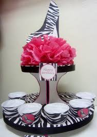 Sweet 16 Table Centerpieces Diy Party Decorations Sweet 16 Party Ideas Diva Pink Zebra