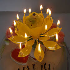 Candle Centerpieces For Birthday Parties by Aliexpress Com Buy Aihome 1pcs Lotus Flowers Musical Candle