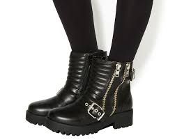 black leather biker boots office impact buckle biker boots black leather ankle boots