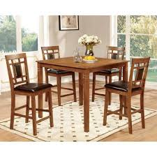 counter high dining room sets amazon com furniture of america bennett 5 piece light oak