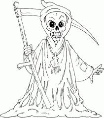Precious Moments Halloween Coloring Pages Grim Reaper Coloring Pages For Inspire Cool Coloring Pages And