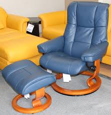 Burgundy Leather Chair And Ottoman Stressless Mayfair Medium Paloma Oxford Blue Leather Recliner