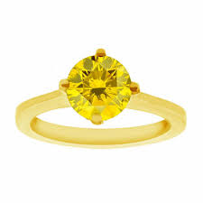 canary yellow engagement ring canary yellow solitaire engagement ring 14k yellow gold