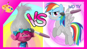 rainbow dash vs poppy kids coloring pages duel dreamworks