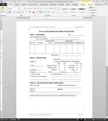engineering inspection report template fsms receiving inspection report template