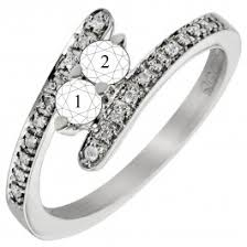 mothers rings with 2 stones 2 bypass mothers ring in 14kt white gold with diamonds 1