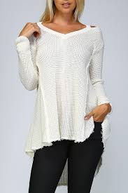 open shoulder sweater listicle knit open shoulder sweater from by jchronicles