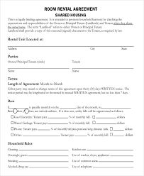 sample printable lease agreement example house rental agreement