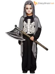 Digger Halloween Costume Child Grave Digger Costume Boys Grim Reaper Fancy Dress Kids
