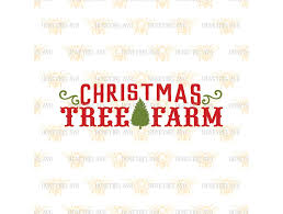christmas tree farm svg eps dxf jpg illustrations creative market