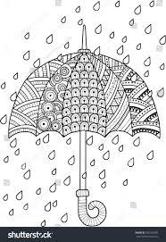 hand draw vector doodle coloring page imagem vetorial de banco