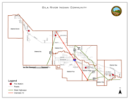 Arizona Rivers Map by Gric Station Location And Response Area Gila River Indian