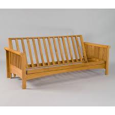 portland cherry oak futon frame dcg stores