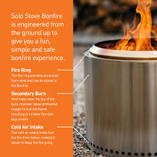 How To Make A Fire Pit In The Backyard by Amazon Com Solo Stove Bonfire Super Efficient Backyard U0026 Patio