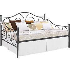 dhp victoria full size metal daybed pewter 4022939 bed ebay