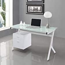White X Desk by Elegant White Home Office Furniture