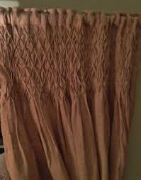 Smocked Burlap Curtains Textiles