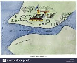 St Lawrence River Map Fort Frontenac On Lake Ontario 1600s At The Head Of The St