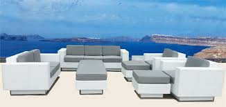 White Wicker Outdoor Patio Furniture Wicker Sectional Sofa Patio Furniture