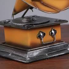 online shop bar retro old style home decor resin crafts phonograph