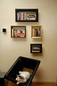 book frames frame turns into bookshelf by change of scenery