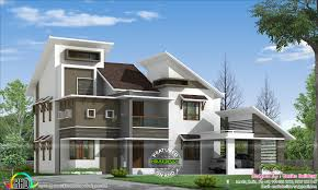 slanting roof style modern home kerala home design bloglovin u0027