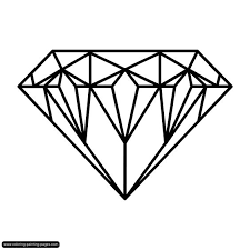 inspiring design diamond coloring page 4 marvelous decoration