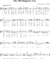 Old Rugged Cross The Old Rugged Cross Chords Lyrics And Sheet Music For C