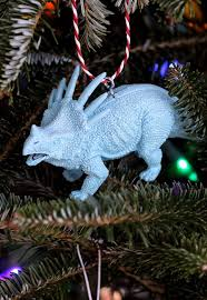 dino make ornaments from plastic animals