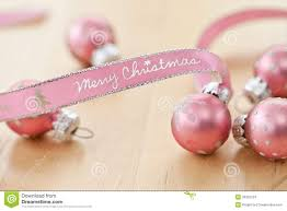merry christmas written on pink ribbon stock images image 35225234