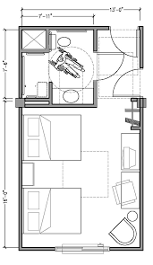 Bedroom Size Requirements Plan 2b Accessible 13 Ft Wide Hotel Room Based On 2004 Adaag