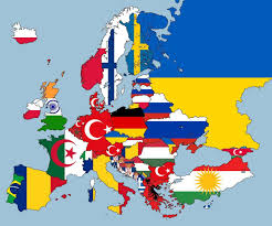 Flags Of European Countries Mapped European Nations According To Second Largest Nationality