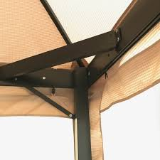 replacement canopy for bc burgundy dome gazebo riplock garden winds
