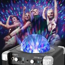 ion portable speaker system with party lights portable speaker ion house party portable sound system with built